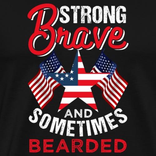 Strong Brave Bearded - Männer Premium T-Shirt