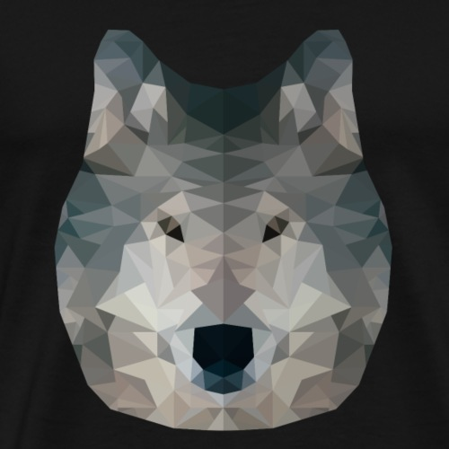 Wolf - Low Poly 2D - Mannen Premium T-shirt