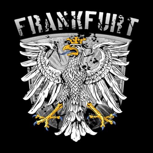Frankfurt Stadtwappen Adler Design Silber Edition - Männer Premium T-Shirt
