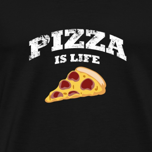 Pizza Is Life - Männer Premium T-Shirt