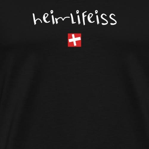 NEU! Heimlifeiss | Schweizer Sprüche | Geschenk - Männer Premium T-Shirt