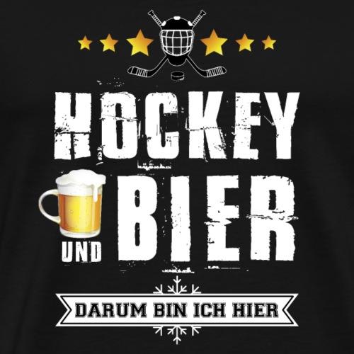 Eishockey und Bier darum bin ich hier - Männer Premium T-Shirt