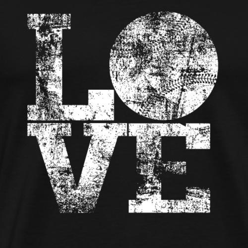 Baseball LOVE Shirt - Männer Premium T-Shirt