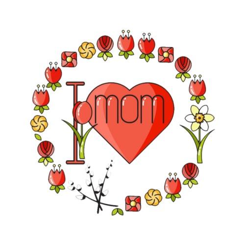 I love mom - Muttertag T-Shirt - Männer Premium T-Shirt