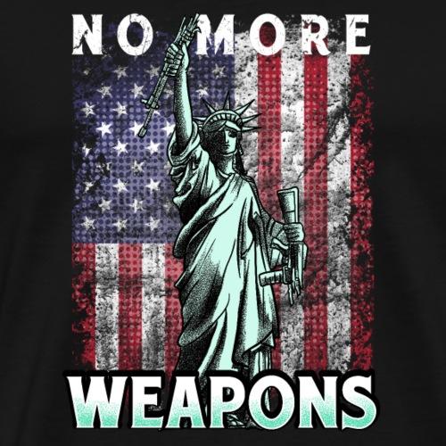 No More Weapons Keine|Waffen Mehr Protest T-Shirts - Männer Premium T-Shirt
