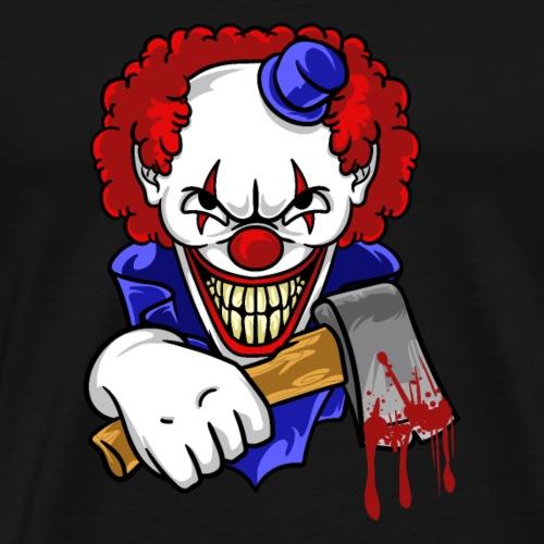 Böser Clown mit blutiger Axt Horror T-Shirt| NaKos - Männer Premium T-Shirt
