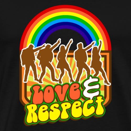 Tanz Bunter Regenbogen Liebe Und Respekt T-Shirt - Männer Premium T-Shirt