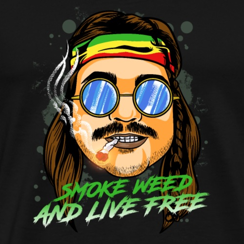 Smoke Weed And Live Free Fan Joint T-Shirts |NaKos - Männer Premium T-Shirt