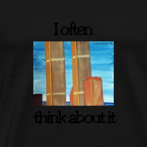 WTC Twin Towers 9/11 Memorial T-Shirt - Männer Premium T-Shirt