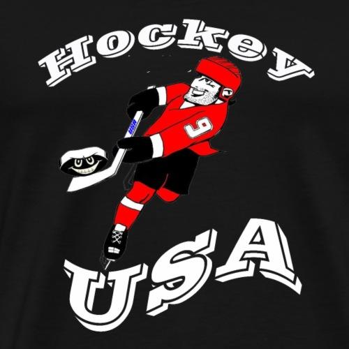 Hockey USA weiss - Männer Premium T-Shirt