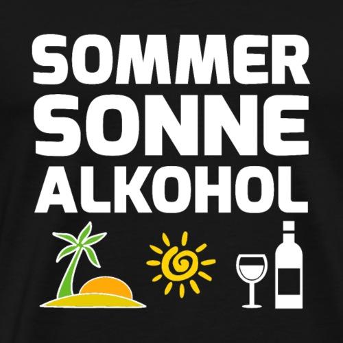 SOMMER - SONNE - ALKOHOL - Männer Premium T-Shirt