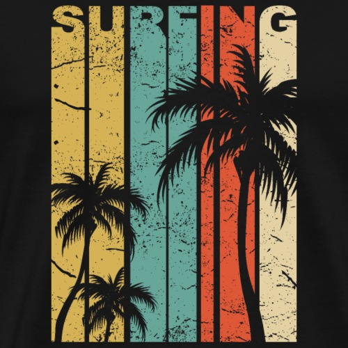 California surfing typography. - Männer Premium T-Shirt