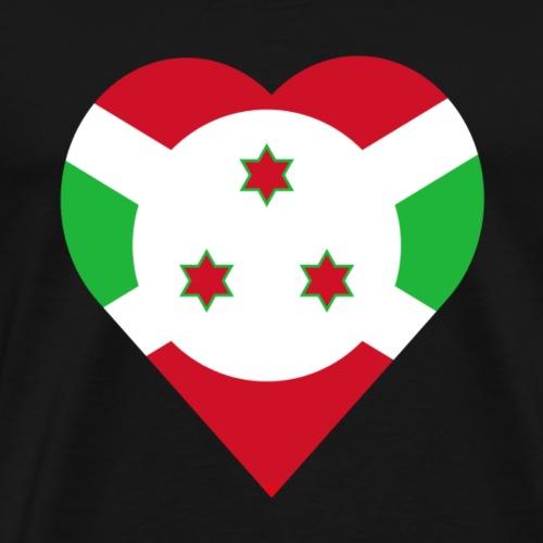 Burundi love heart - Men's Premium T-Shirt