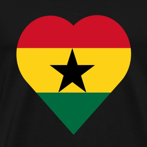 Ghana love heart - Men's Premium T-Shirt