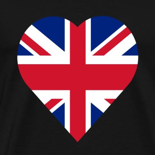 United kingdom love heart - Men's Premium T-Shirt