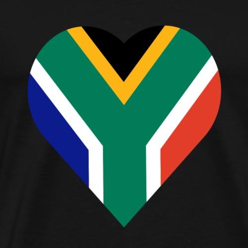 South Africa love heart - Men's Premium T-Shirt