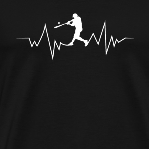 Baseball Heartbeat Cool Gift for Sport Lovers - Camiseta premium hombre