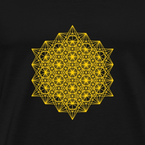 64 tetrahedron - Men's Premium T-Shirt