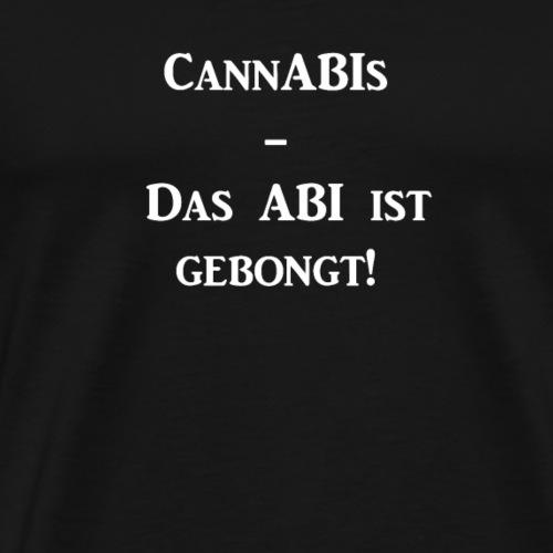 CannABIs Das ABI ist gebongt - Männer Premium T-Shirt