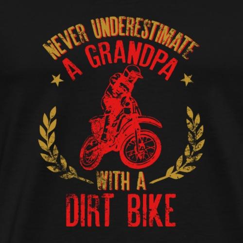 A Grandpa With A Dirt Bike Funny Gift for Grandpa - Camiseta premium hombre