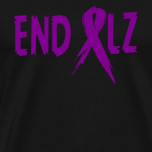 Alzheimer's END ALZ Awareness Ribbon - Men's Premium T-Shirt
