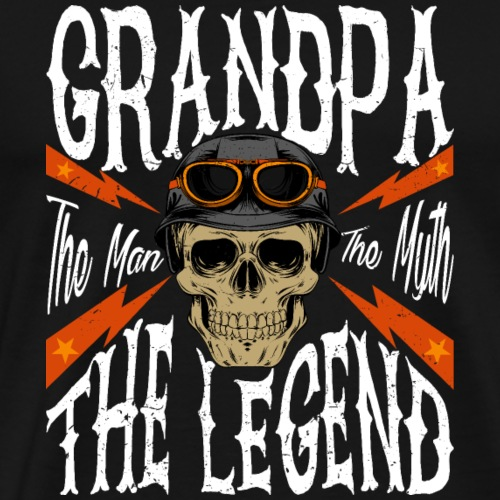 Grandpa The Man The Myth The Legend Tshirt Gift f - Camiseta premium hombre