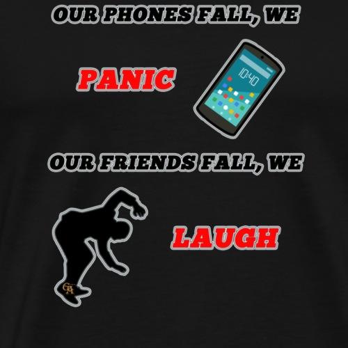 Phone fall - Männer Premium T-Shirt
