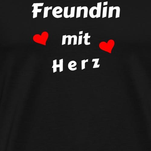 Freundin mit Herz - Geschenk - Männer Premium T-Shirt