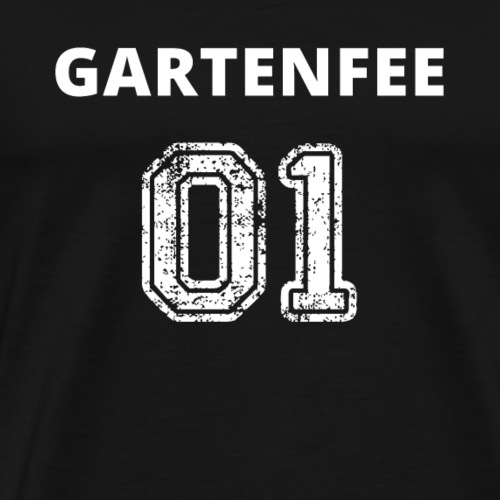 Gartenfee 01 weiss Garten Blumen - Geschenk - Männer Premium T-Shirt