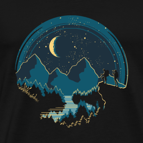 Nachtwanderung - Männer Premium T-Shirt