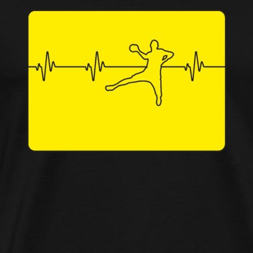 Handball Handballspieler Herzschlaglinie - Männer Premium T-Shirt
