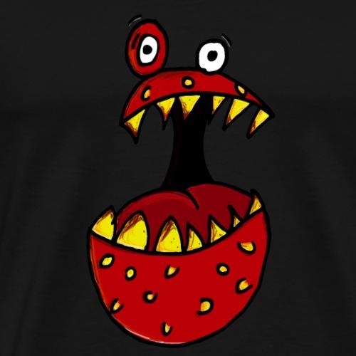 Horror Grusel Halloween Comic Figur Erdbeere - Männer Premium T-Shirt