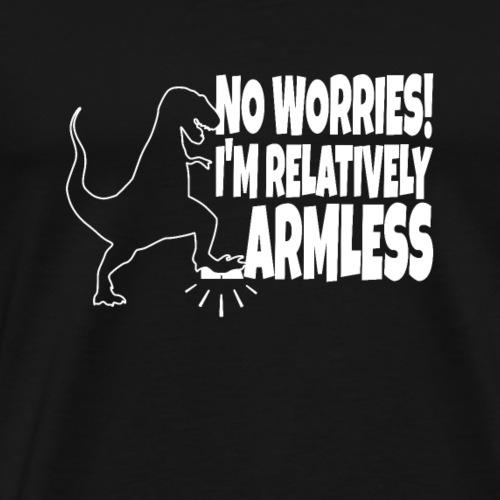 T-Rex Tyrannosaurus Rex - Armless pun - Mannen Premium T-shirt