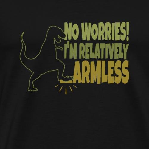 T-Rex I'm relatively armless Rex - Mannen Premium T-shirt
