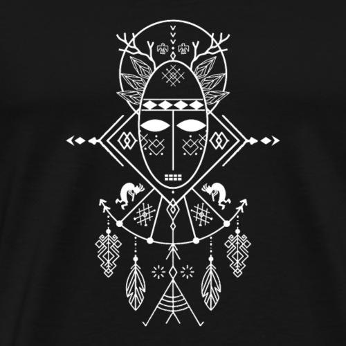 Schamane (dunkler Hintergrund) - Männer Premium T-Shirt