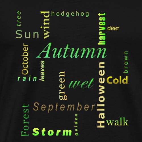 Jahreszeiten Herbst Kreuzwort Geschenk - Männer Premium T-Shirt