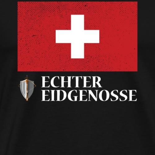 Echter Eidgenosse Schweiz - Männer Premium T-Shirt
