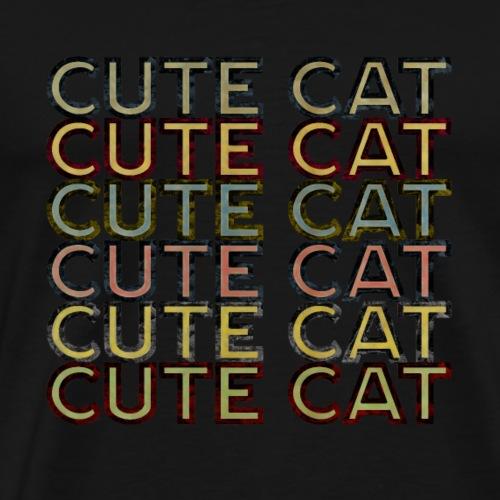 Cute Cat Funny T-shirt - Männer Premium T-Shirt