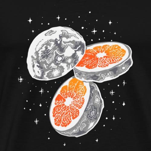 COOL MOON ORANGE SLICE - Premium-T-shirt herr
