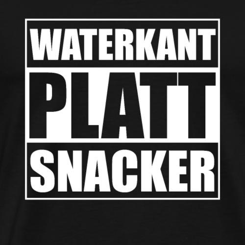 Waterkant platt snacker - Männer Premium T-Shirt