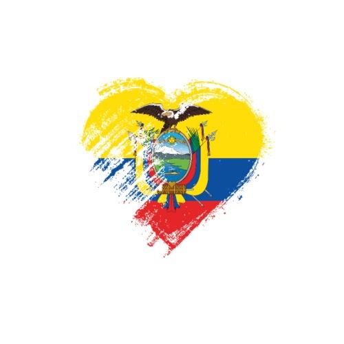 Grungy I Love Ecuador Heart Flag - Men's Premium T-Shirt