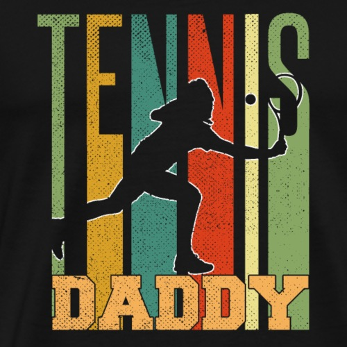 Tennis Daddy Retro Vintage T-Shirt Dad | Father's - Männer Premium T-Shirt