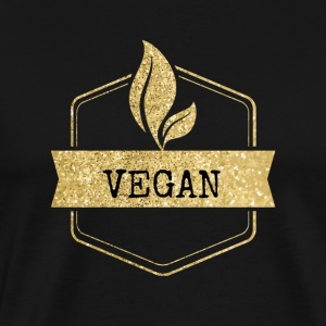 Golden vegan vegetarian design - Men's Premium T-Shirt