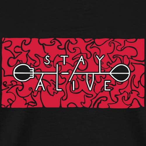 stay alive bicolor large - Männer Premium T-Shirt