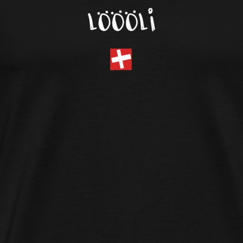 NEU! Schweizer Sprüche | Geschenk | Lööli - Männer Premium T-Shirt