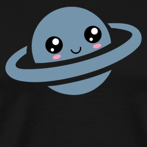 Kawaii, planet, saturn, anime, manga, comic, cute - Men's Premium T-Shirt