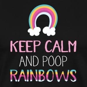 Poop Rainbows - Men's Premium T-Shirt