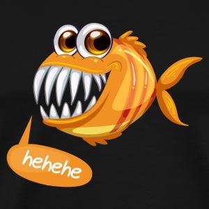 Pesci Aggiungi Testo Guida nella descrizione - Maglietta Premium da uomo