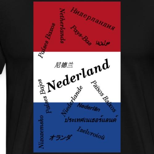 Nederland in diverse talen geheel - Mannen Premium T-shirt