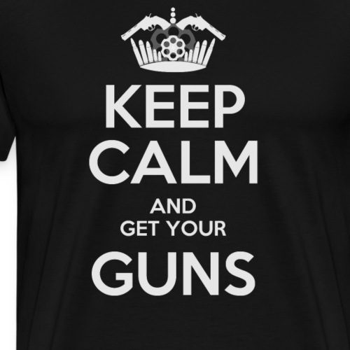 Keep Calm and get your Guns, IPSC sport - Camiseta premium hombre